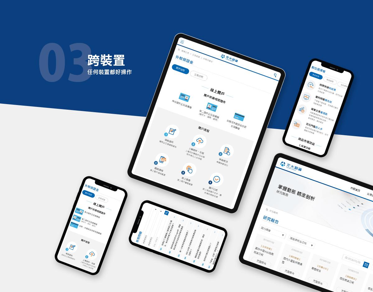 元大期貨 官網改版 網站建置 網頁設計